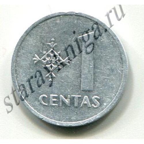 Один цент 1991 Литва