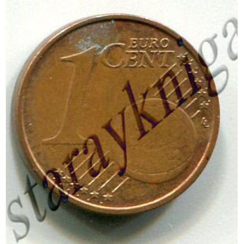 Один евроцент 2014 Латвия