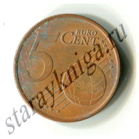 Пять евроцент 2002 Ирландия