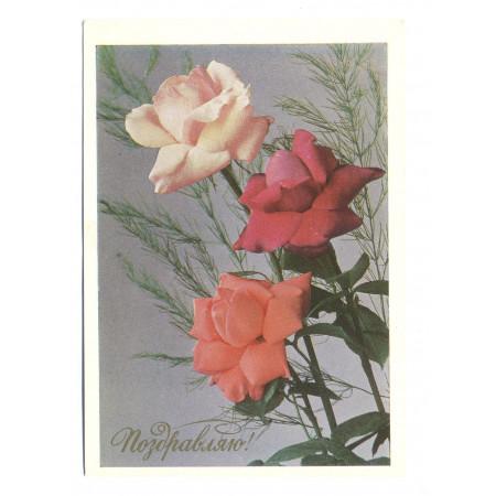 Поздравительная почтовая открытка лот 1836
