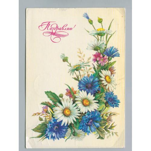 Поздравительная почтовая открытка лот 2727