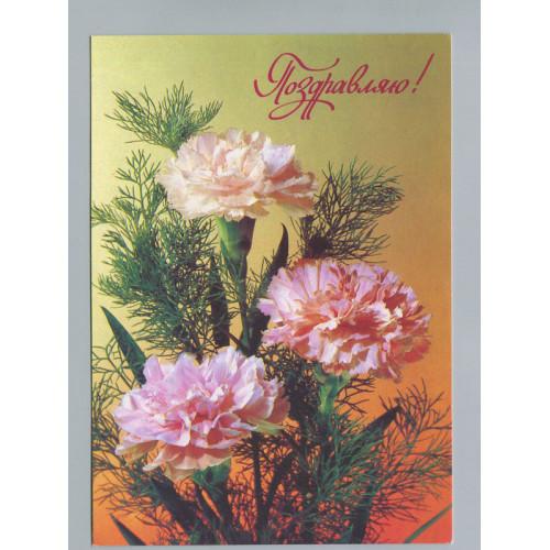 Поздравительная почтовая открытка лот 2744