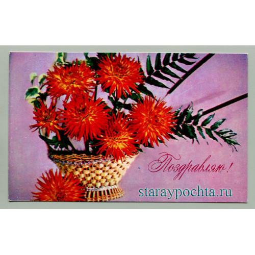 Поздравительная почтовая открытка лот 722