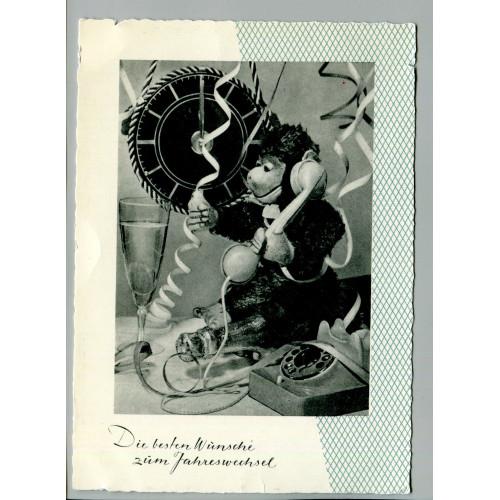 Фото открытка С Новым годом, лот  16648